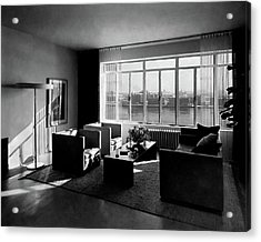 Living Room In The Ny Home Of Edward M. M Acrylic Print