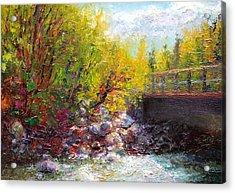 Living Water - Bridge Over Little Su River Acrylic Print