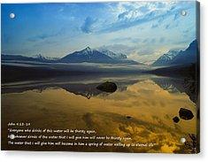 Living Water Acrylic Print by Jeff Swan