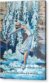 Living Water Scripture Acrylic Print