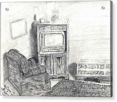 Livingroom Acrylic Print by Angela Pelfrey