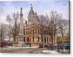 Livingston County Courthouse 06 Pontiac Il Acrylic Print by Thomas Woolworth