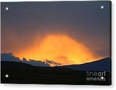 Livingstone Range Sunset Acrylic Print