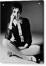 Liza Minnelli Wearing A Joan Arkin Dress Acrylic Print