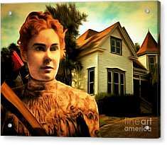 Lizzie Borden Took An Ax 20141226 Acrylic Print by Wingsdomain Art and Photography