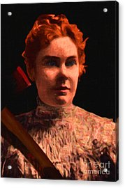 Lizzie Bordon Took An Ax - Painterly - Black Acrylic Print by Wingsdomain Art and Photography