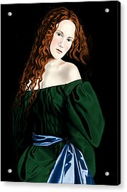 Lizzie Siddal Acrylic Print by Andrew Harrison