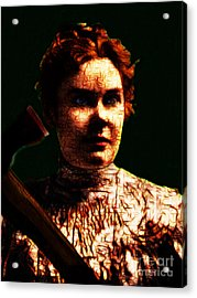 Lizzie Acrylic Print by Wingsdomain Art and Photography