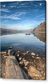 Llanberis Lake Acrylic Print by Adrian Evans