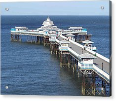 Acrylic Print featuring the photograph Llandudno Pier by Christopher Rowlands
