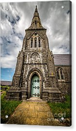 Llandwrog Church  Acrylic Print by Adrian Evans