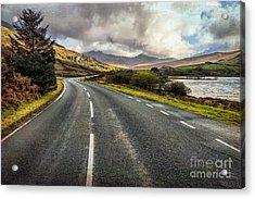 Llynnau Mymbyr Pass Acrylic Print by Adrian Evans
