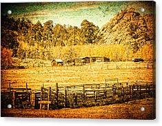Loading Chutes At The Old Ranch Acrylic Print