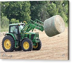 Loading Hay Acrylic Print by J McCombie