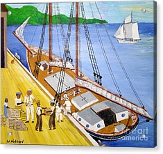 Loading The Sch. H.l.marshall At Jamaica Acrylic Print