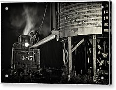 Loading Water At Chama Train Station Acrylic Print by Priscilla Burgers