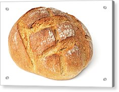 Loaf Of Bread On White Acrylic Print by Matthias Hauser