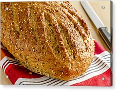 Loaf Of Whole Grains And Seeded Bread Acrylic Print by Teri Virbickis