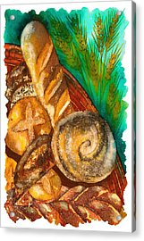 Loaves Of Bread Acrylic Print by Tess Stone