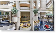 Lobby Of The Renaissance Center Acrylic Print by John McGraw