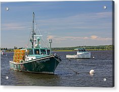 Acrylic Print featuring the photograph Lobster Boat Deliverance  by Kirkodd Photography Of New England
