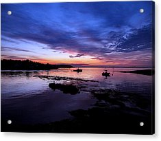 Lobster Boat Sunrise Acrylic Print