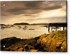 Lobster Boats Cape Porpoise Maine Acrylic Print by Bob Orsillo
