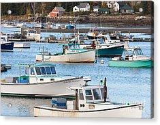 Lobster Boats In Bass Harbor I Acrylic Print
