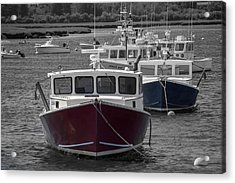 Lobster Boats Selective Color Acrylic Print