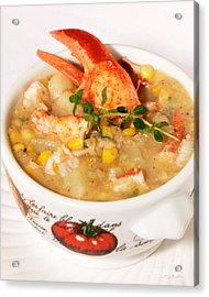 Lobster Chowder With Corn And Poblano Peppers Acrylic Print by Iris Richardson