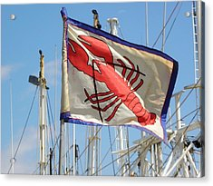 Lobster Flag At The Point Acrylic Print