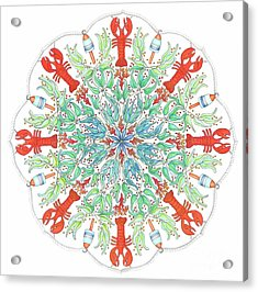 Lobster Mandala Acrylic Print by Stephanie Troxell