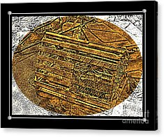 Lobster Pot - Brass Etching Acrylic Print