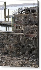 Lobster Pots Northport New York Acrylic Print
