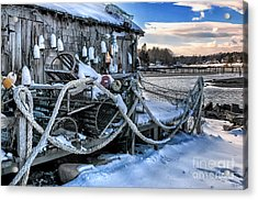 Lobster Shack At Cape Neddick  Acrylic Print by Thomas Schoeller