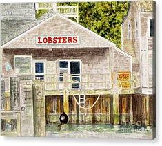Lobster Shack Acrylic Print by Carol Flagg