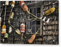 Lobster Shack Window Dressing Acrylic Print by Thomas Schoeller
