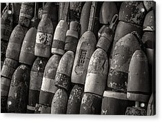Lobster Trap Bouys Acrylic Print by Fred LeBlanc