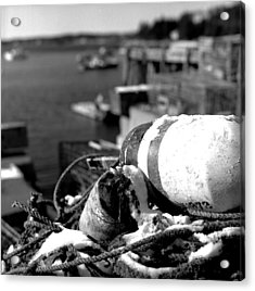 Lobster Traps 07 Acrylic Print by Timothy Bischoff