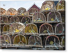 Lobster Traps Acrylic Print by Elena Elisseeva