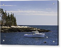 Lobsterboat In Spruce Head On The Coast Of Maine Acrylic Print