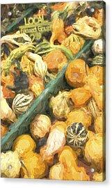 Local Glazed Gourds Painterly Effect Acrylic Print by Carol Leigh
