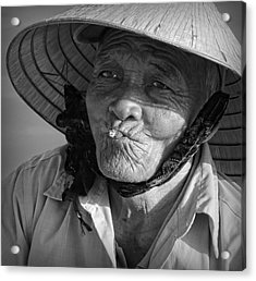 Acrylic Print featuring the photograph Local River Man by Kim Andelkovic