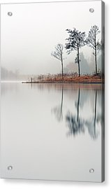 Loch Ard Reflections Acrylic Print by Grant Glendinning