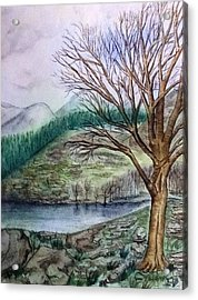 Loch Ard Stirling Overlooking Loch A'ghleannain Acrylic Print