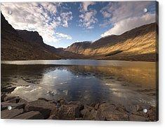 Loch Coire Nan Arr Acrylic Print by Karl Normington