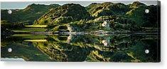 Loch Crinan Scotland And Duntrune Castle Acrylic Print