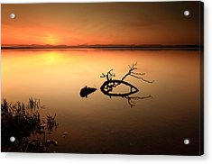 Loch Leven Sunset Acrylic Print by Grant Glendinning