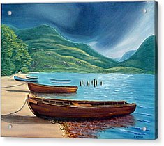 Loch Maree Scotland Acrylic Print by Fran Brooks