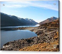 Acrylic Print featuring the photograph Loch Mullardoch by Jacqi Elmslie